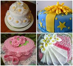 Варианты украшения торта мастикой