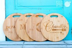 Personalized Cutting boards.  What a great gift idea!