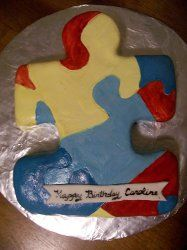 Autism Awareness Cake