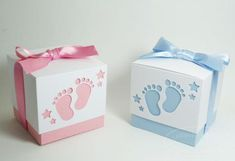 Deco Baby Shower, Baby Boy Shower, Diy Gift Box, Diy Gifts, Baby Gift Hampers, Diy And Crafts, Paper Crafts, Gift Wraping, Baby Box