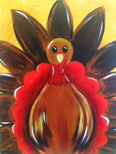Paint and Sip Classes - Pinot's Palette Appleton Fall Canvas Painting, Turkey Painting, Autumn Painting, Autumn Art, Painting For Kids, Diy Painting, Canvas Art, Canvas Ideas, Fall Paintings