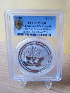 2009 30th Anniversary China Silver Panda--PCGS MS 68--10 Yuan