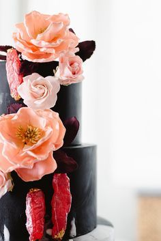 modern wedding inspiration with peonies and neon photography fiona rh pinterest com