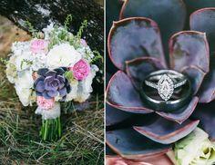 Grace and Jaden Photography Portland Oregon Wedding Photographers, Succulent Bouquet