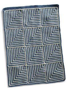 Gratis oppskrift på håndkle i dominoteknikk - rett fram rillestrikk det også!  Kan like gjerne bli til kluter (reduser til fire ruter) eller strikk flere ruter til sjal eller pledd eller som du lyster.  Recycled Materials, Handicraft, Decorative Items, Easy Crafts, Recycling, Knitting, Crochet, How To Make, Bed Covers