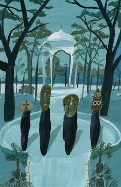 Yosuke Yamaguchi (was born In Tokyo, Japan) Yamaguchi, Art And Illustration, Nostalgic Art, Thing 1, Japanese Artists, Folk Art, Art Photography, Drawings, Prints