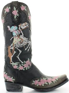 Old Gringo Ghost Rider Black Boots Picture Cowgirl Boots, Western Boots, Rider Boots, Old Gringo Boots, Fashion Marketing, Ghost Rider, Western Outfits, Black Boots, Shoe Boots
