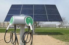 Solar-powered electric vehicle charging station | Flickr - Photo Sharing!
