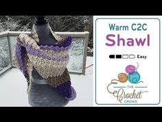 How To Crochet A Shawl: Corner to Corner Shawl - YouTube  INFO ON HOW TO JOIN TWO CARON CAKE BALLS.