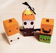 Free Printable - Happy Halloween Treat Boxes