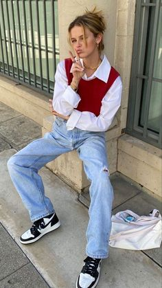 Indie Outfits, Retro Outfits, Cute Casual Outfits, Fall Outfits, Vintage Outfits, Fashion Outfits, H M Outfits, Fashion Vintage, Fashion Boots