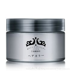 Authentic hair grey mud wax one-time hair dyes