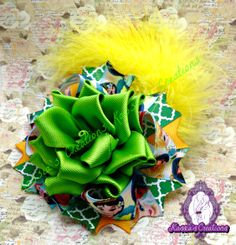 Latest handmade rose bow for Disney Princesses #disney #handmade #bow #hairbow #Disneyprincess #boutique #ottbow