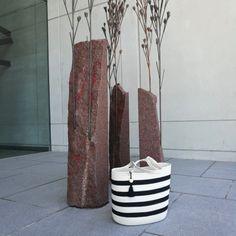 Shopper Bag Ivory With Black Stripes Net Bag, Rope Basket, Shopper Bag, Cotton Rope, Black Stripes, Travelling, Tassels, Ivory, Farmers