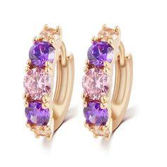 Allegra - CZ Diamonds Gold Drop Earrings