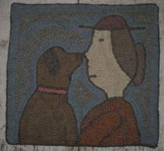 Folk Art Primitive Hand Hooked OOAK Rug | eBay