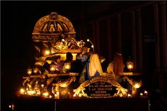 Holy week night processions in Quetzaltenango. Guatemala.