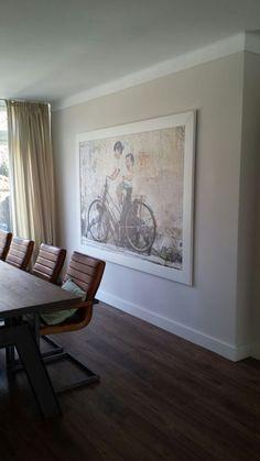 Maak van fotobehang een schilderij. www.decohomebos.nl
