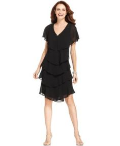 Patra Short-Sleeve Tiered Dress