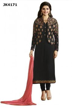 INQUIRY WHATSAPP /  Call- 91 9624913609 Justkartit Women's Decent Semi-Stitched Black And Golden Colour Koti (Jacket) Style Dress Material http://www.justkartit.com/engagement-wear-dress-materialengagement-party-wear-dresseslatest-semi-stitched-dressesdhrasti-dhami-indian-ethnic-weardhrasti-dhami-salwar-kameezlatest-anarkali-stylesSemi-Stitched-Dress-Material-collectionsOffice-wear-Salwar-Kameez-2016?utm_source=dlvr.it&utm_medium=facebook&utm_campaign=justkartit #Diwali