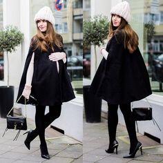 black cape and soft pink @liketoknow.it http://liketk.it/LPMG #liketkit