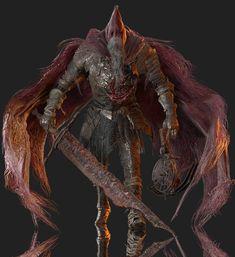 Slave Knight Gael by Yare-Yare-Dong on DeviantArt Dark Souls You Died, Dark Souls Art, Dark Blood, Old Blood, Gothic Fantasy Art, Dark Fantasy, Soul Saga, Bloodborne Art, Street Art Love