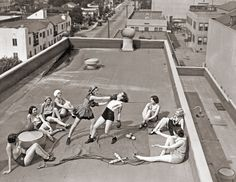 Women's Rooftop Boxing.