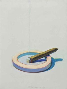 Wayne Thiebaud - Cigar in Ashtray, 1973, Oil on canvas