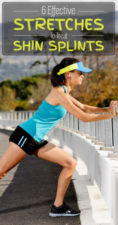 Are you suffering from shin splints? Wondering how you can treat them? Given here are the 6 effective shin splints stretches for you to check out. Shin Splint Exercises, Stretches For Shin Splints, Fitness Goals, Health Fitness, Fitness Motivation, Running Tips, Running Training, Marathon Training, Excercise
