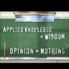 too many opinion people in my life, need more wisdom people