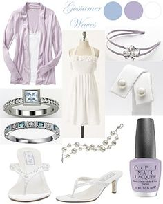 sweet pinks, blues, and white.