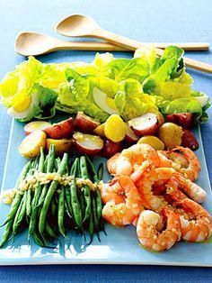 5 Family-Friendly Supper Salads: Shrimp Salad Nicoise