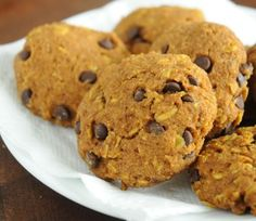 Gluten-Free Pumpkin & Oat Chocolate Chip Cookies