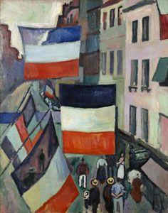 Raoul Dufy (1877-1953), La rue pavoisée, 1906, huile sur toile, 81 x 65 cm, Paris, musée national d'Art moderne - Centre Georges Pompidou. © RMN