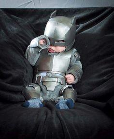 Insanely Cute Armor Batman Baby Cosplay — GeekTyrant ahahahah he's fucking cute or not?