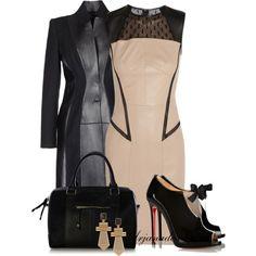 Jason Wu leather Dress, created by arjanadesign on Polyvore