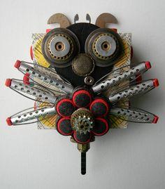 Recycled Art Collage    Juju Bug    Original Mixed by redhardwick, $80.00
