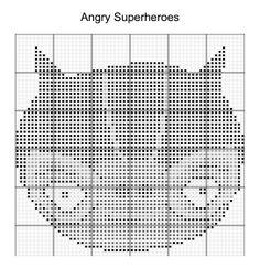 Cross Stitch - Angry Bird Superheroes 16 of 16 - cat woman