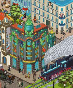 Some latest pixel art panoramas