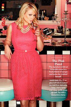 Miranda Lamberts The Pink Pistol. I would add cherry or vanilla vodka :)