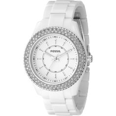 8d091c4d165 Fossil White Glitz Watch  VonMaur Fossil Watches