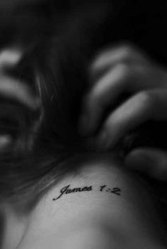 James 1:2 | 30 Inspirational Bible Verse Tattoos