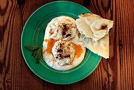 Poached Eggs With Mint and Yogurt - sooo good!  a good way to use up our eggs