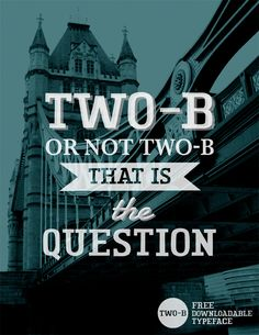 TWO-B SLAB - Free Typeface