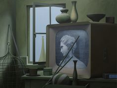 """""""old television/2408"""" 68 x 90, acrylic on canvas, 2011"""