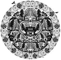 The Circle of Life by Ursula Regez Fuchs Im Mätteli 3758 Latterbach Ursula, Vinyl Cutting, Paper Cutting, Fuchs Silhouette, Car Folie, Origami, Circle Of Life, Fabric Design, Paper Art