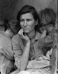 Dorothea Lange. 'Migrant Mother, Nipomo, California' 1936, printed c 2003