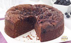 torta de arándonos y chocolate #torta #cake