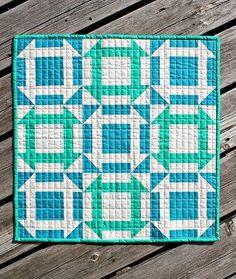 "Monkey Business, 21"" x 21"". Fresh mini quilt Club pattern, August 2013, at Canoe Ridge Creations"