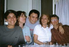 Prima Cecilia, tia Chiche, Alejandro, Susana y Ricardo en mi departamento de Flores